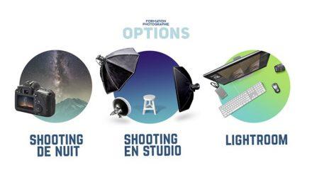 11e  Formation photo : Les options