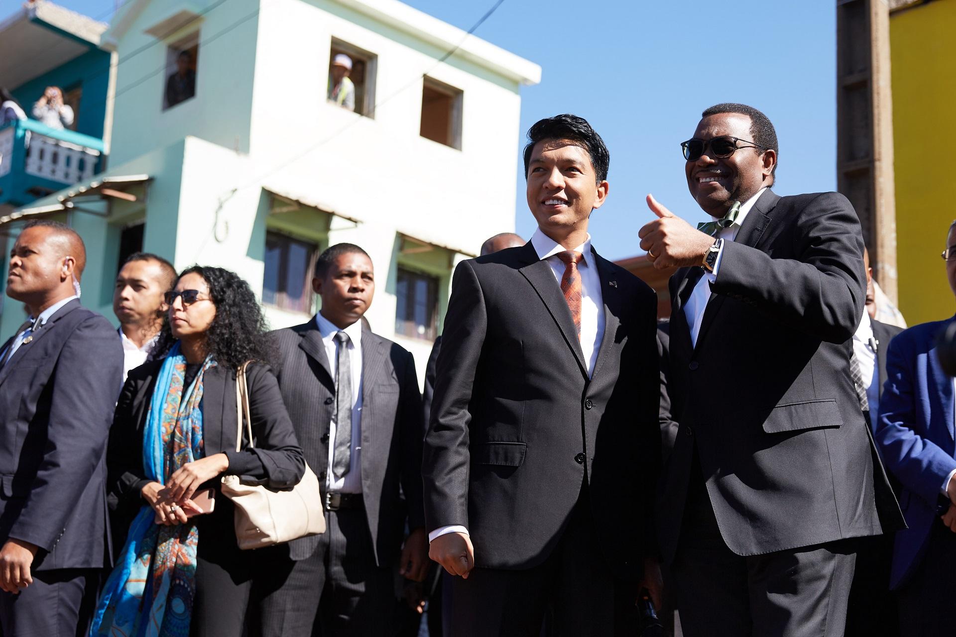 Inauguration des quartiers pilotes d 'Antananarivo