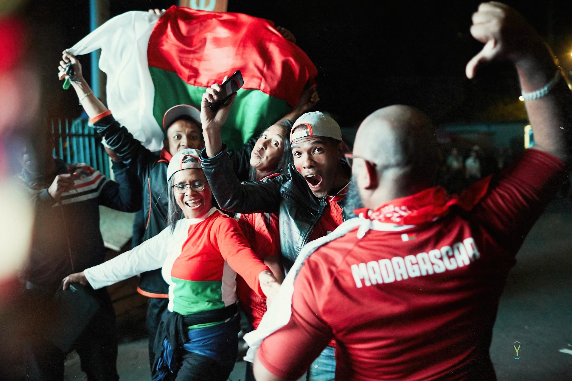 Ambiance de folie après la victoire des Barea contre la RDC