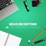 Nous recrutons un community manager